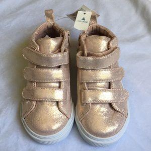 Rose Gold Hi-Top Sneakers